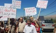النشرة: أهالي تمنين نفذوا وقفة احتجاجية بسبب انقطاع الكهرباء والمياه