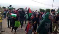 النشرة: بدء فعاليات احتفال مسيرة العودة في شقيف