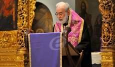 عودة ترأس جناز المسيح في كاتدرائية مار جاورجيوس