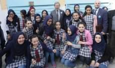 افتتاح مبنى مدرسة الرملة لأطفال فلسطين التابعة للأونروا بمخيم البدواي