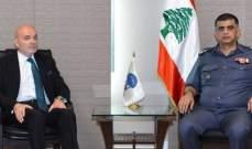 اللواء عثمان التقى حكيم ووفدا من جمعية النهوض وعلم اللغات
