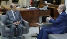 الرئيس عون استقبل رئيس جمعية تجار بيروت نقولا شماس