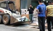 المفرزة الصحية في بلدية حارة حريك تتلف 6 اطنان من التمور في احد المستودعات