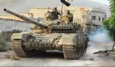 النشرة: ارتفاع حدة المعارك بين الجيش السوري والمسلحين بريفي حماة وإدلب