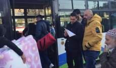 النشرة: دخول حافلات من سوريا لنقل دفعة جديدة من النازحين السوريين