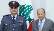 الرئيس عون استقبل قائد الدرك العميد سليلاتي لمناسبة تسلمه مهامه الجديدة
