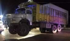النشرة: انزلاق شاحنة عند مفترق بقسطا الشرحبيل في صيدا