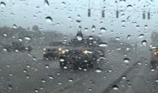 النشرة: تساقط غزير للامطار ورياح شديدة في منطقة حاصبيا