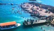 """النشرة: تواصل العمل لإنشاء """"حديقة مائية"""" في بحر صيدا"""
