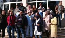 اعتصام لموظفي مستشفى بعلبك الحكومي للمطالبة بدفع مستحقاتهم