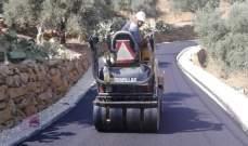 وزارة الأشغال اعادت تأهيل وتزفيت طريق رئيسي يربط بين بلدتين بحاصبيا