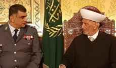 المفتي دريان عرض الأوضاع العامة مع اللواء عثمان