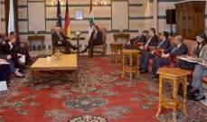 الحريري بحث مع الرئيس الألماني تعزيز التعاون بين البلدين