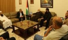 وفد من القوى الإسلامية التقى دبور وثمّن جهوده بخدمة قضايا الفلسطينيين في لبنان