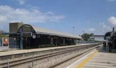توقف خدمة القطار في عسقلان جنوب إسرائيل بعد فتح الملاجئ