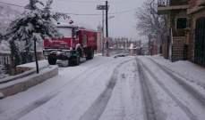 النشرة: الثلوج غطت القرى والمرتفعات في بلدة شبعا وطرقات حاصبيا سالكة