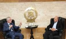 آلان عون التقى خطار واتفقا على اتمام انشاء مركز جديد للدفاع المدني