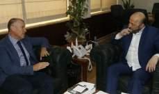الرياشي التقى سفيري اسبانيا واستراليا في مكتبه بالوزارة
