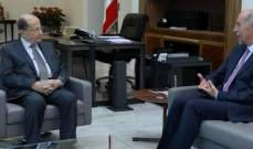 الرئيس عون التقى عباس هاشم وتناولا الاوضاع المحلية والاقليمية