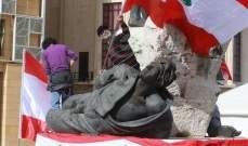 بدء التجمع في ساحة الشهداء استعدادا للتظاهر واجراءات أمنية احترازية