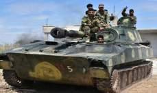 """""""سانا"""": الجيش السوري دمر بضربات آليات وأوكارا لمسلحي """"النصرة"""" بريف إدلب"""