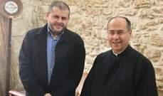 """وفد من """"حزب الله"""" في صيدا بحث مع المطران الحداد العديد من القضايا بصيدا"""