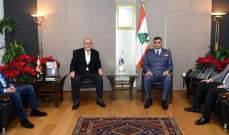 اللواء عثمان استقبل النائب الدويهي ورئيس بلدية الصرفند