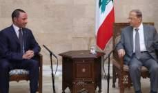 مرزوق الغانم من بعبدا: ليس هناك من حظر على زيارة الكويتيين الى لبنان