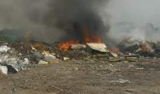 النشرة: اندلاع حريق في مكب عشوائي بجديتا