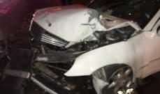 قتيل نتيجة اصطدام سيارة بالفاصل الوسطي على طريق عام عجلتون