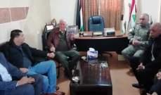 ابو عرب التقى وفدا من ضباط امن الرئاسة الفلسطينية