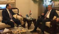 تقي الدين: لبنان اليوم بأمس الحاجة  للتعاون مع سوريا