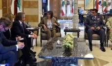 الحسن بحثت مع وزير الامن البولندي سبل التعاون لمكافحة الارهاب واستقبلت محافظ البقاع
