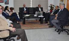 اللقيس التقى عميد واساتذة كلية الهندسة وتابع مع وفد نقابة اتحاد القصابين وتجار المواشي أوضاع القطاع