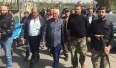 النشرة:أبو عرب تفقد مخيم الرشيدية بصور وتسليم متهمين بقتل نور خليل ديب
