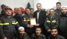 رئيس بلدية حاصبيا زار مركز الدفاع المدني وأثنى على جهودهم