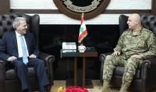 قائد الجيش التقى سفير لبنان في أميركا وتم التداول في شؤون مختلفة