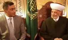 دريان بحث مع سفير باكستان بالعلاقات الثنائية والتقى الهيئة الدائمة لنصرة القدس وفلسطين