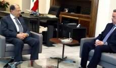 سلامة من بعبدا: الإمكانات متوافرة لمتابعة تنفيذ السياسات النقدية التي يتّبعها مصرف لبنان