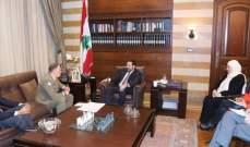 الحريري التقى قائد اليونيفيل:على المجتمع الدولي لجم التصعيد الاسرائيلي