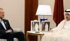 لاريجاني: الدبلوماسية القطرية النشطة هزمت تحالف بعض الدول العربية ضدها