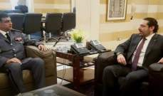 MTV: الحريري بحث مع عثمان التدابير التقشفية التي ستأخذها مديرية قوى الأمن