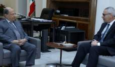 الرئيس عون التقى فهد والهيئة الإدارية لرابطة النواب السابقين وأفراد عائلة غانم