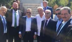 نهرا خلال وضع الحجر الأساس لمبنى بلدية بقسميا: نأمل بأن يمتد الإنماء لكل لبنان