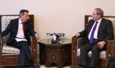 المقداد أكد لماورير حرص سوريا على تسهيل عمل اللجنة الدولية للصليب الأحمر