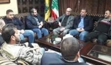 حزب الله إستقبل وفد اللجان الشعبية لقوى التحالف الوطني الفلسطيني والقوى الإسلامية