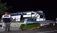 مقتل 30 مهاجرا غير شرعي جراء تصادم حافلة تقلهم قرب بني وليد في ليبيا