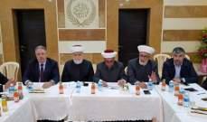 وفد من المجلس الإسلامي الأعلى بحث مع رئيس دائرة الأوقاف الإسلامية في حلبا بالمشاريع القائمة