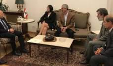 باسيل التقى موفد ماكرون وسفير المانيا ووفد من عائلة جورج عبدالله