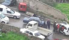 النشرة: جريح بحادث سير في محلة رجال الأربعين في صيدا